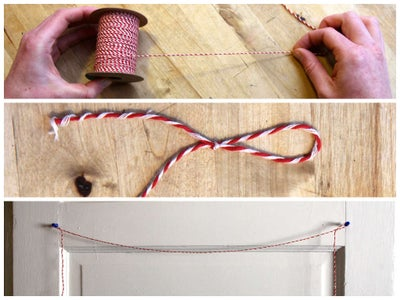 Cut, Slip Knot, and Hang Your Twine
