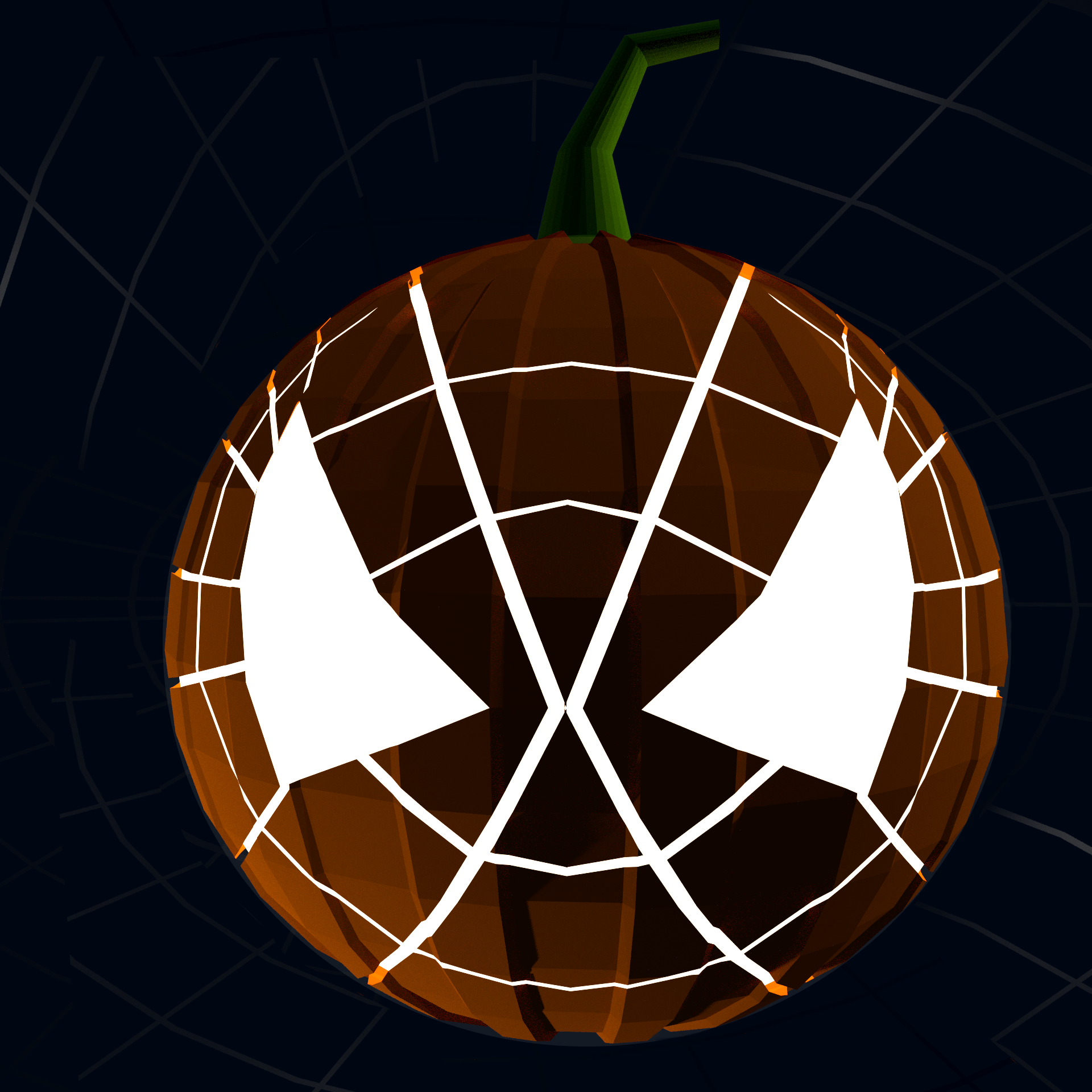 Picture of 3-D Spiderman Jack-o'-Lantern