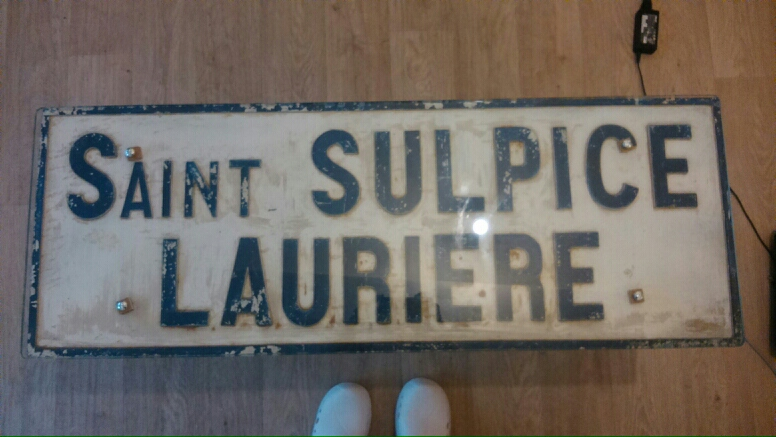 Picture of Cool French Road Sign Coffee Table