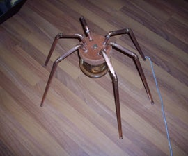 Steampunk Arachna Lamp