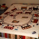 Queen Size Train Quilt