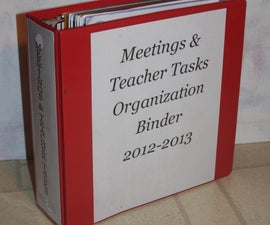 Teacher Tasks Organizer Notebook
