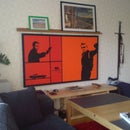 How to make a projection screen that's also a painting
