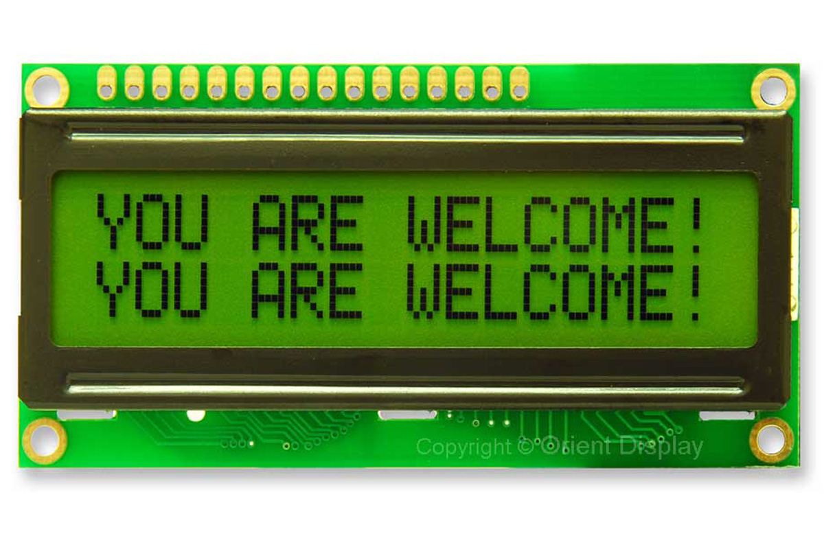 Picture of LCD-liquid Crystal Display.