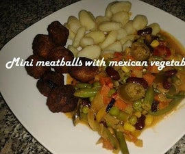 Mini Meatballs With Mexican Vegetables Recipe