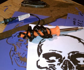 AIRBRUSH STENCIL CUTTING MADE EASY-SOLDERING IRON....
