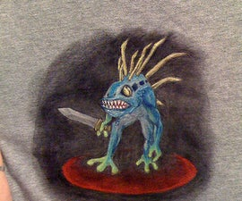 Freehand Acrylic Painting for T-shirts