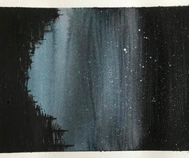 Night Sky Watercolor Tutorial