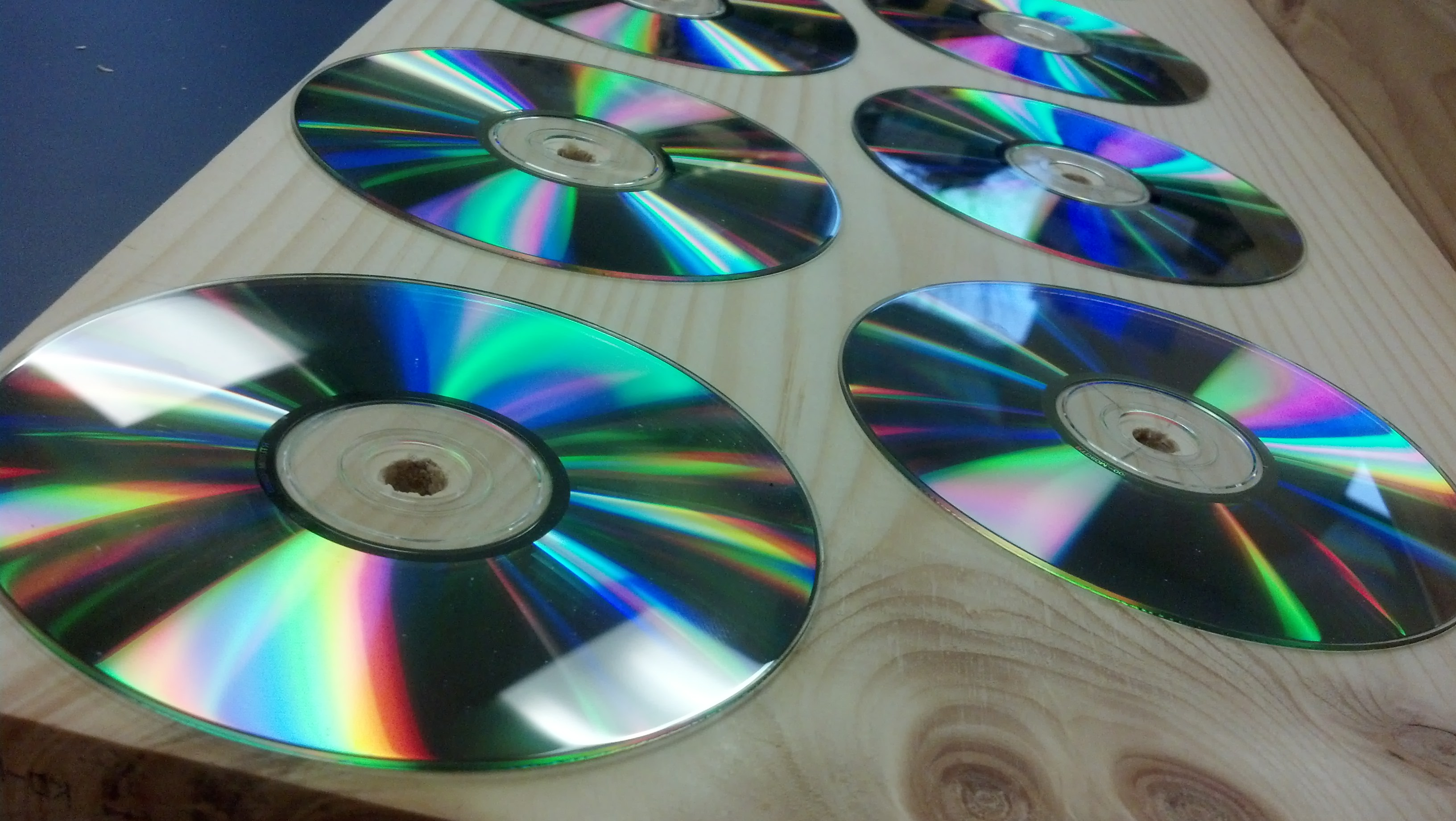 Picture of Glue on the CDs