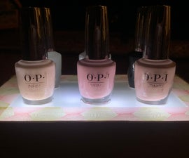 Glowing Nail Polish Stand