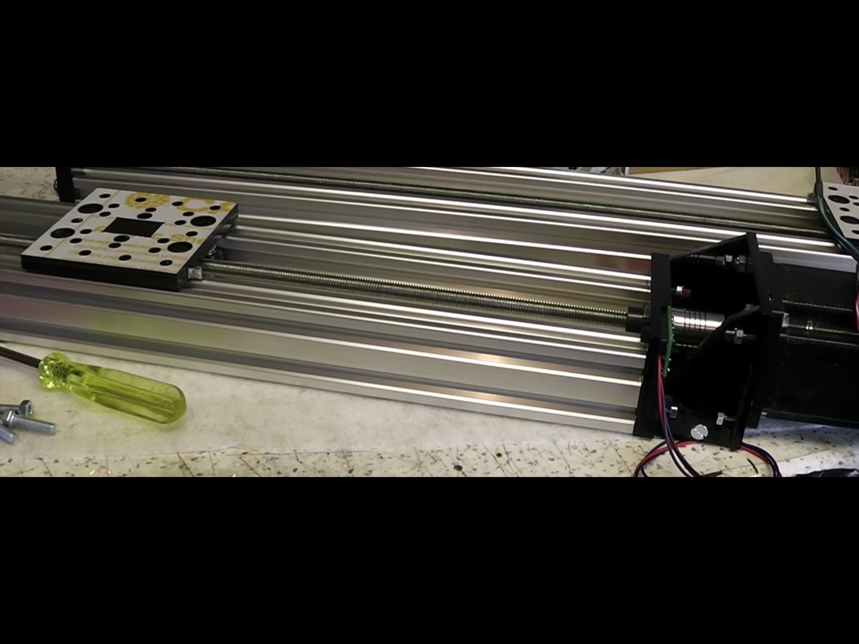 Picture of C-Beam Linear Actuator - Can Be Lasercut or Handmade - Compatible With Openbuilds