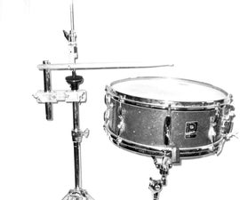 Foot Operated Snare Drum - an Adapter for Hi-hat Stand