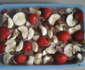 choclate custard fruit pudding