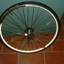 LED Lights on Bicyle Wheels for night visibility