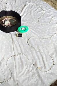 Sew LED Strand Into Skirt
