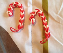 How To Make A Crazy Loom Candy Cane Charm