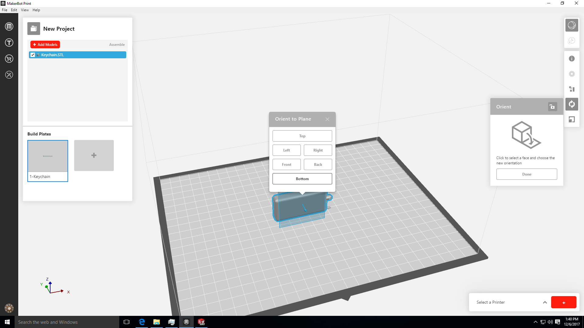 Picture of Printer Startup and File Slicing