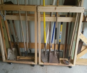Long Handled Swinging Tool Rack