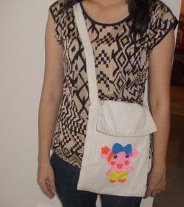 Miss La Sen Felt Sling Bag