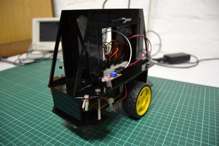 Sensor Platform Robot With IR Control