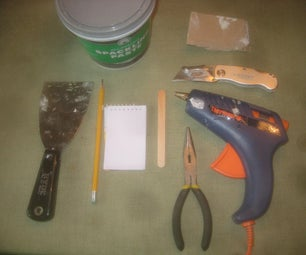 A Trick for Patching Drywall Using Hot Glue