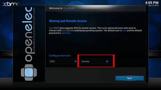 Installing OpenELEC and Assigning an IP Address