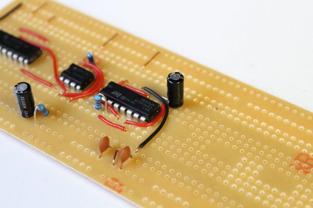 Picture of Adding More Parts and Connectors on the 556 IC