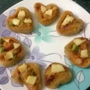 Pizza heart rolls