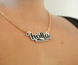 DIY Typography pendants