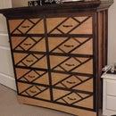 10 Drawer Dresser with Hidden Drawers and Crown Molding Hidden Storage