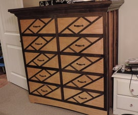 10 Drawer Dresser With Hidden Drawers and Crown Molding Hidden Storage