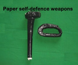 Two Paper Self-defence Weapons