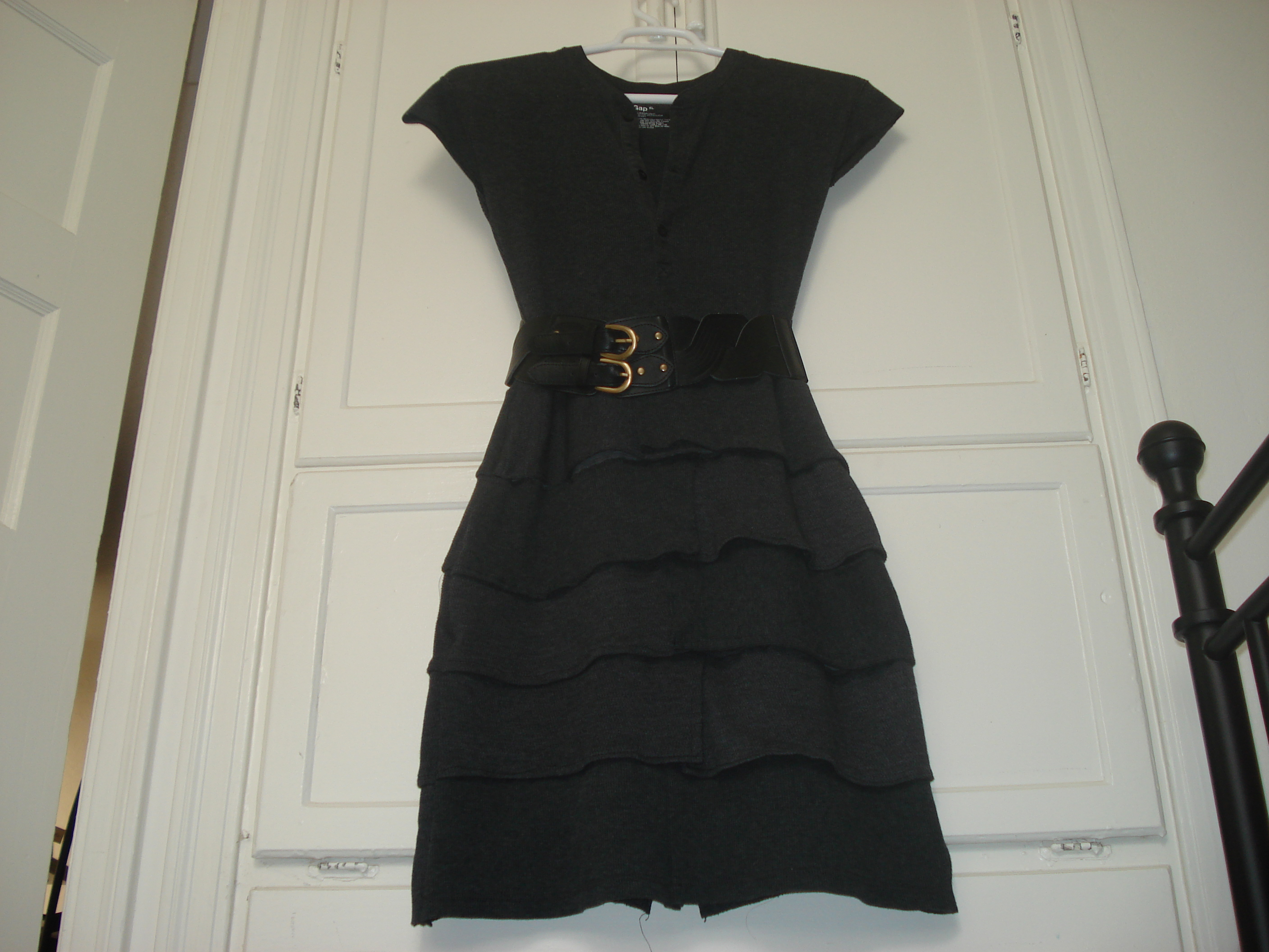 Picture of Thermal (Waffle) Ruffle Dress From Recycled Shirts