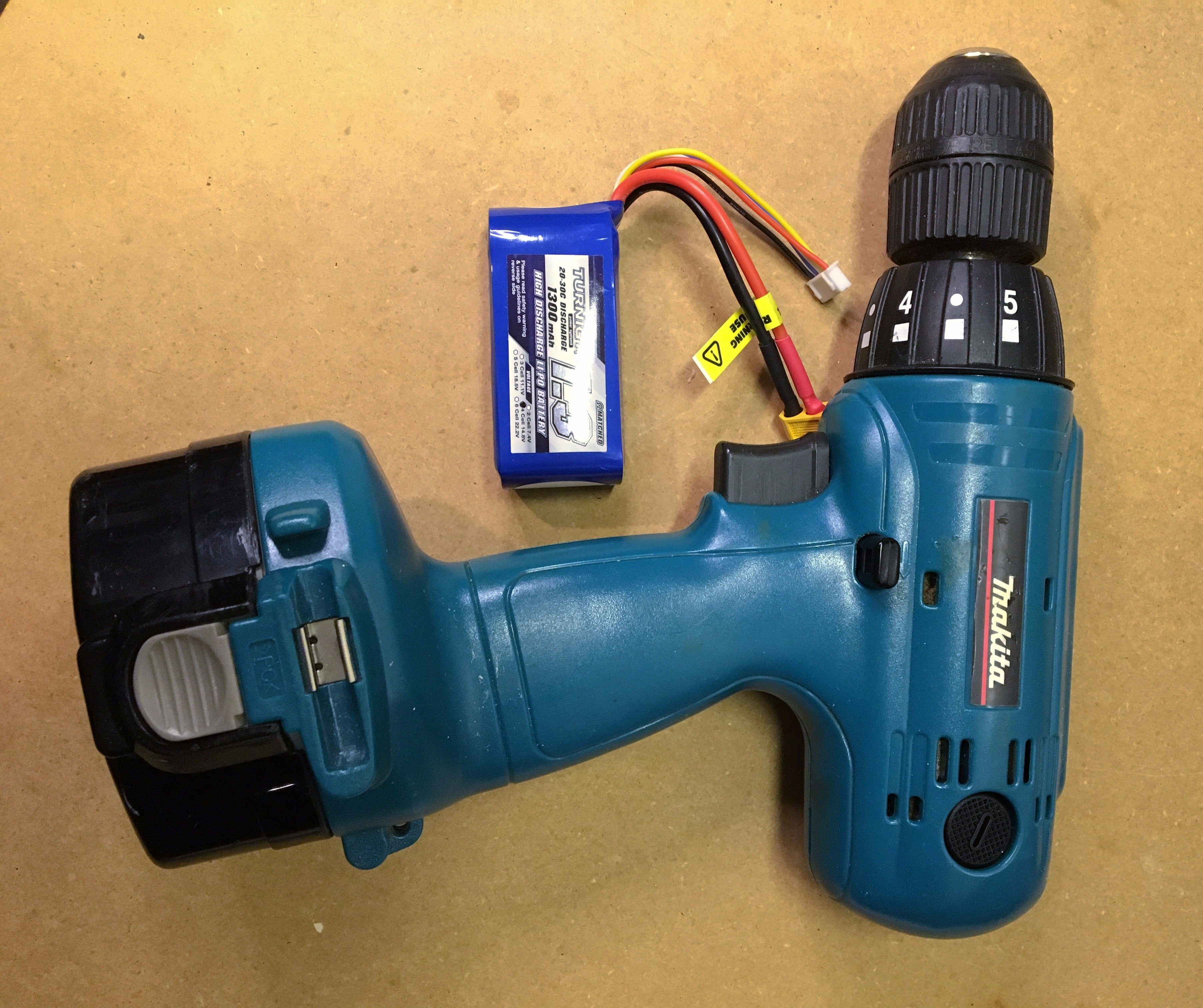 Harbor Freight Drill Master 18V Battery Convert to DIY Connection Adapter Robot