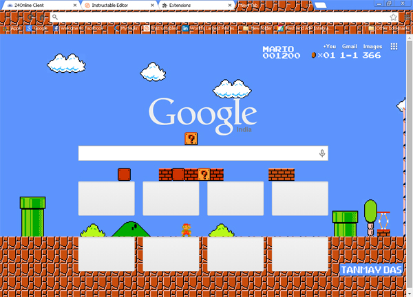Picture of Making a Mario Brothers Custom Google Chrome Theme