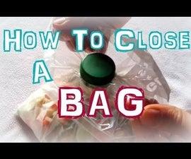 How to close a bag (using plastic bottle cap)