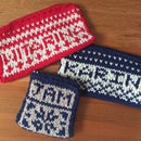 Knitting a Personalised Scandi-Style Purse