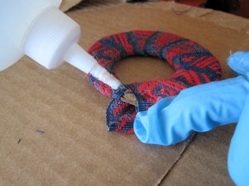 Finishing the Fabric Hoop