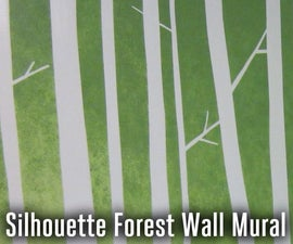 Silhouette Forest Wall Mural