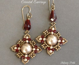 Beaded Earrings - Oriental Earrings - Beading and Jewelry Making Tutorial