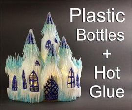 DIY Frozen Castle Using Plastic Bottles and Hot Glue
