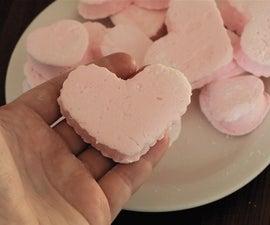Pink Peppermint Heart Marshmallows