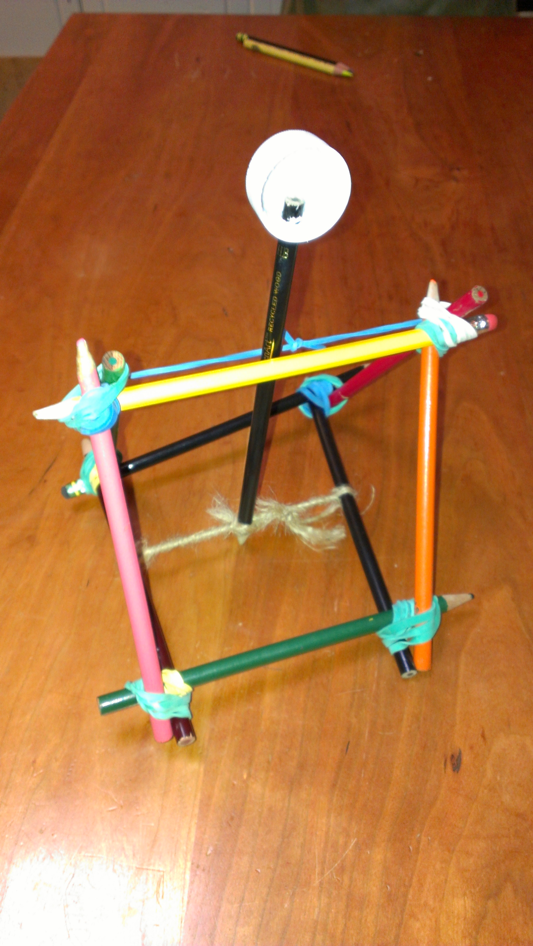 Picture of Office Supply Catapult, Goes 35 Feet!!!