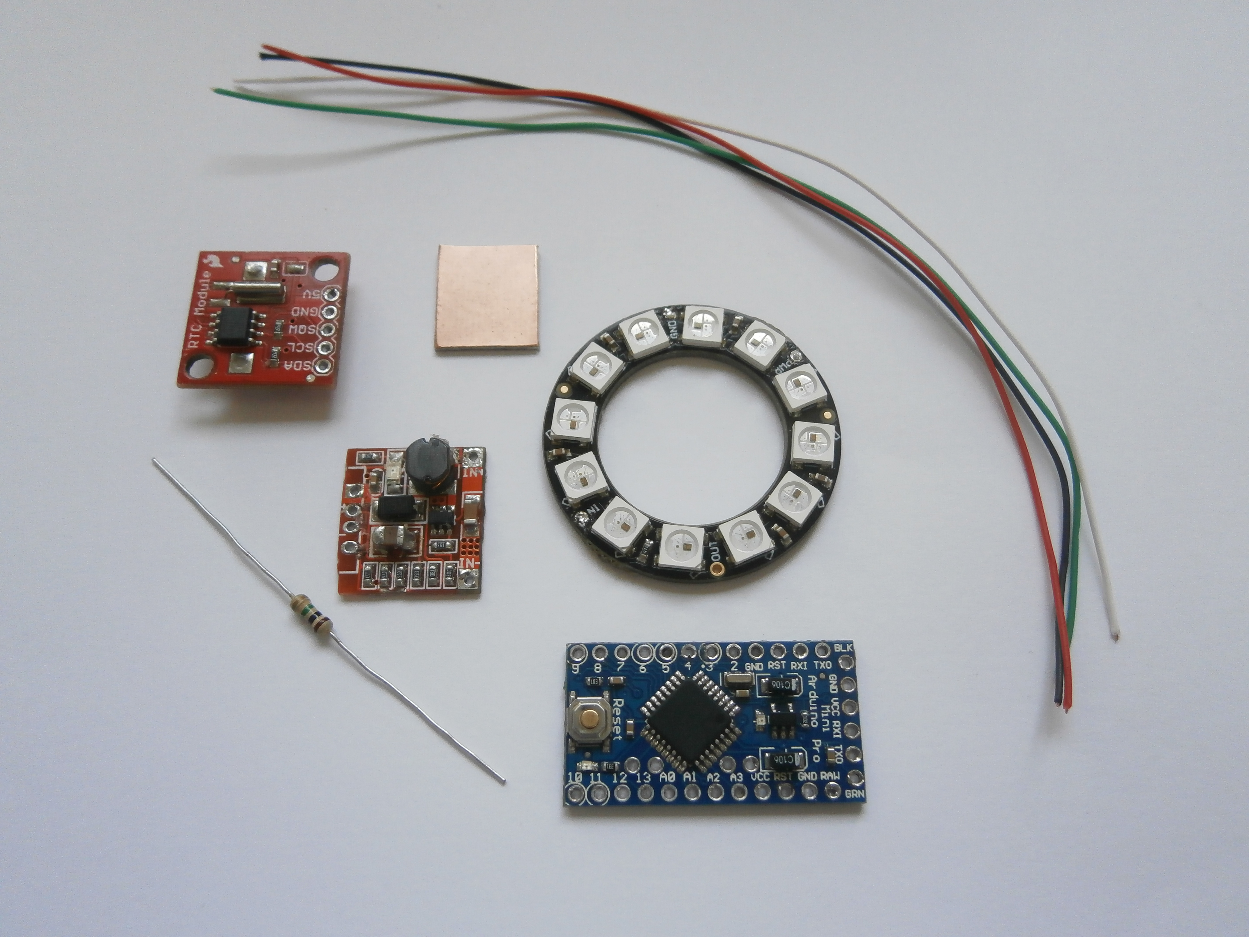 Picture of Parts, Materials and Tools for the Project
