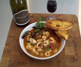 Cioppinot (Californian seafood stew with Pinot Noir)