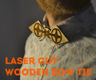 Clip on Wooden Bow Tie (laser Cut)