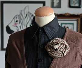 Men's Neck Tie Rose Brooch