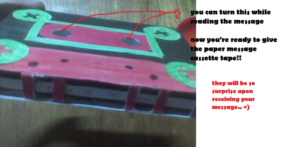 Picture of PAPER CASSETTE TAPE WITH MESSAGE INSIDE!