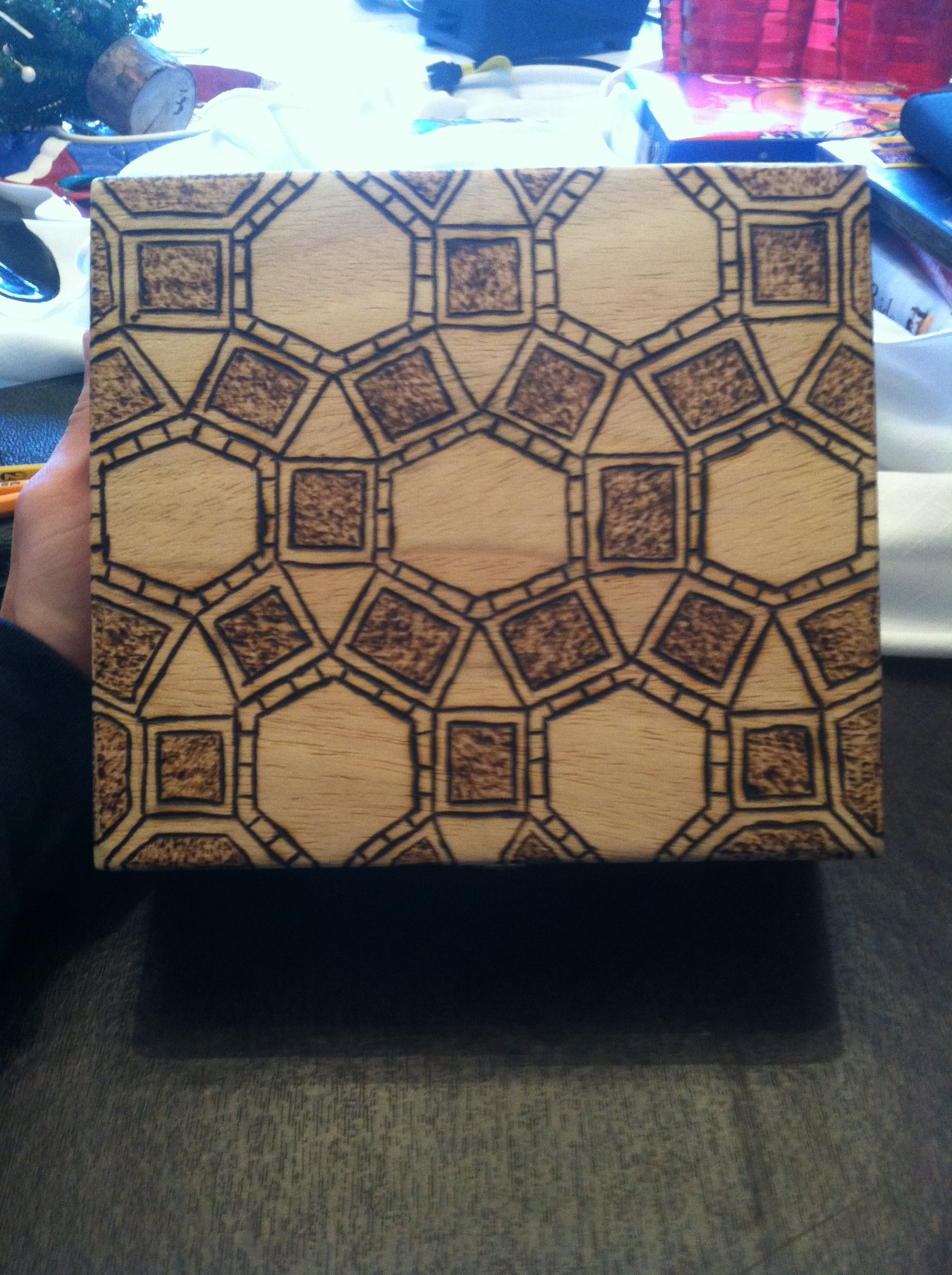 Picture of Woodburning a Cigar Box!