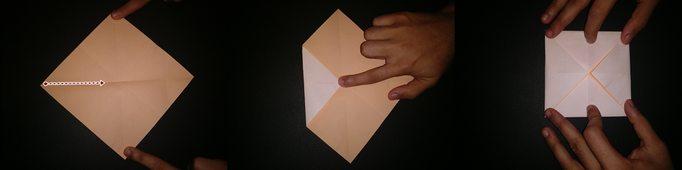 Picture of Now Take Each Corner and Fold It to the Centre